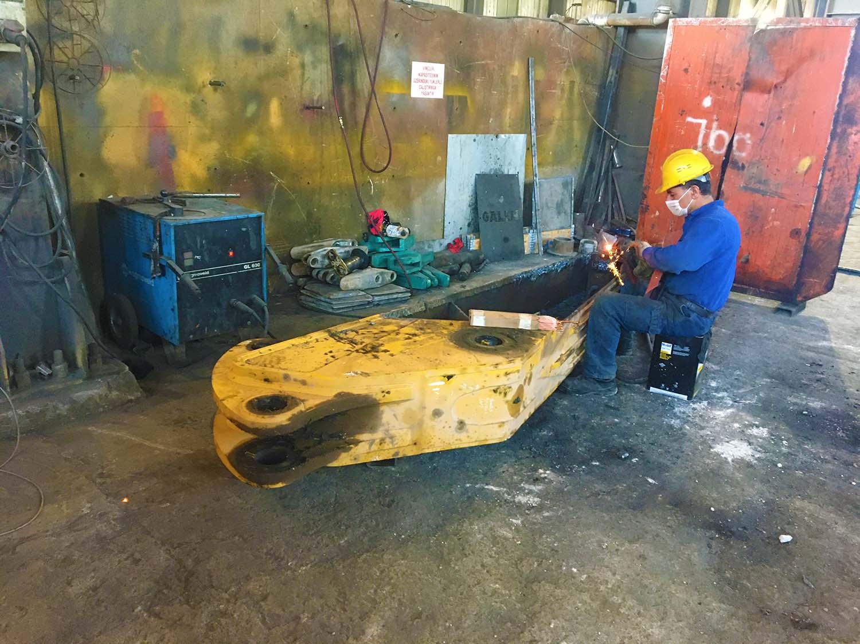 excavator arm tadilatı